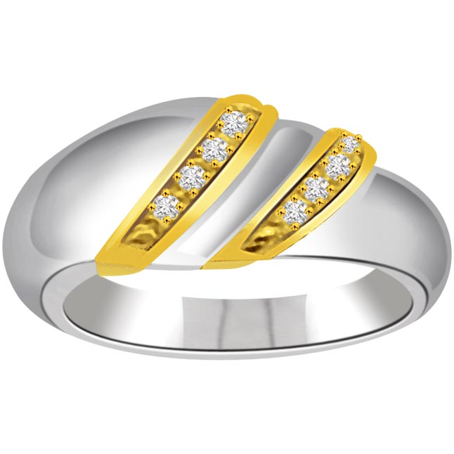 Classic Diamond 18kt Gold rings SDR704 -White Yellow Gold rings