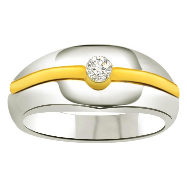 Solitaire Two -Tone Diamond rings SDR705