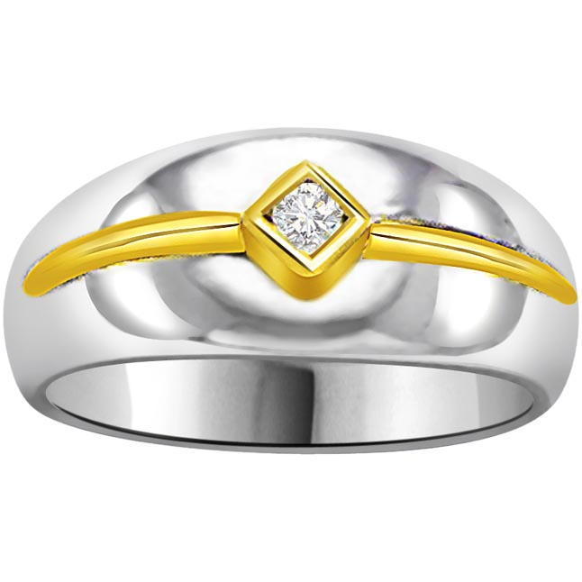 Solitaire Two -Tone Diamond rings SDR706