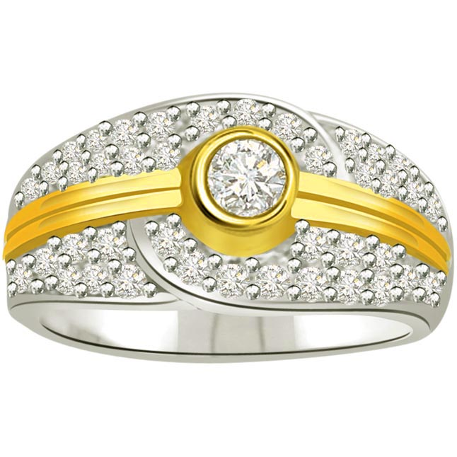 Classic Diamond Gold rings SDR709