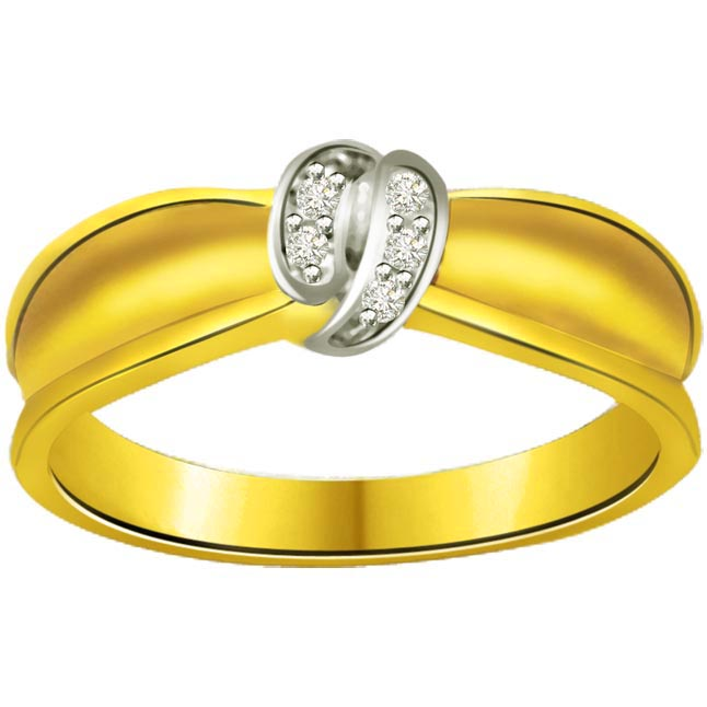 Trendy Diamond Gold rings SDR710