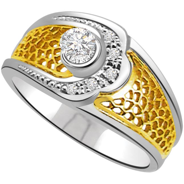 Classic Diamond Gold rings SDR713 -White Yellow Gold rings