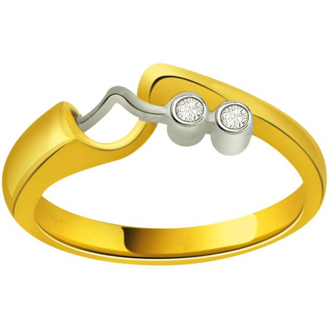 Classic Diamond Gold rings SDR723 -White Yellow Gold rings