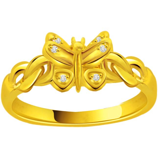 Butterfly Diamond rings SDR725