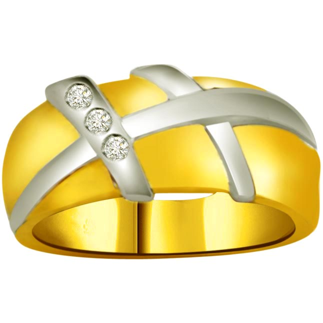 Classic Diamond Gold rings SDR726 -3 Diamond rings