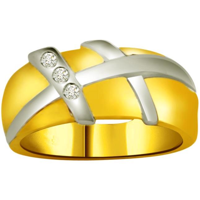 Classic Diamond Gold rings SDR726 -3 Diamond rings