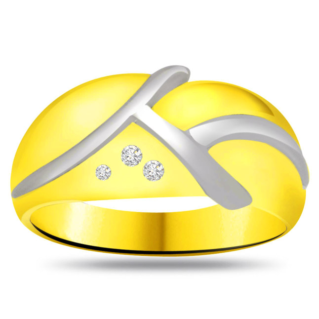 Trendy Diamond Gold rings SDR727 -3 Diamond rings