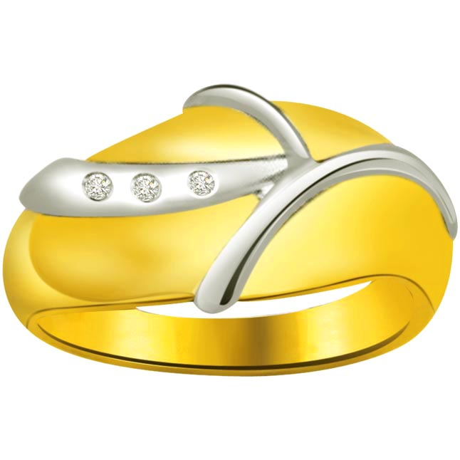 Classic Diamond Gold rings SDR728 -3 Diamond rings