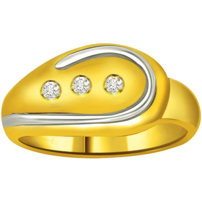Classic Diamond Gold rings SDR730 -3 Diamond rings
