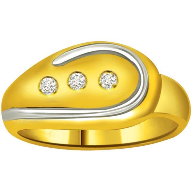 Classic Diamond Gold rings SDR730 -3 Diamond rings
