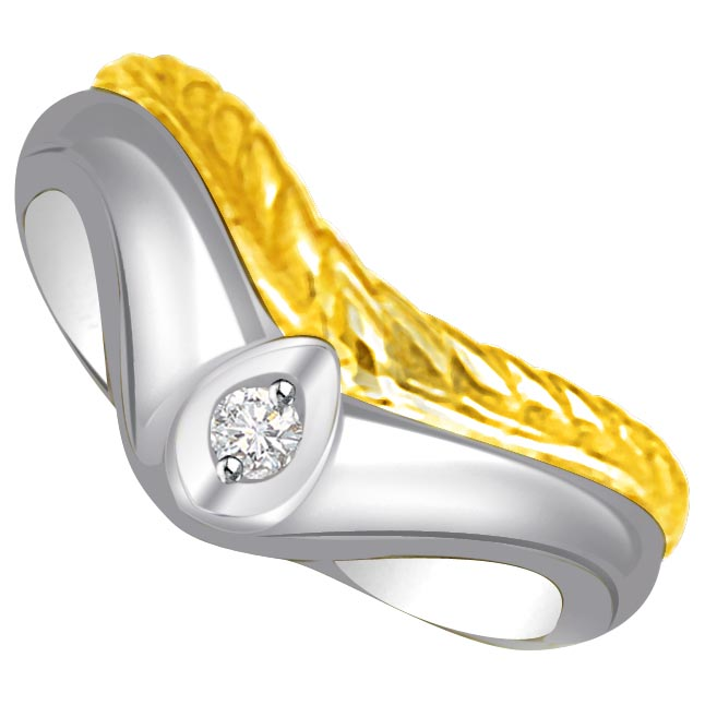 Solitaire Diamond Gold rings SDR733