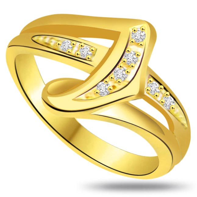 Classic Diamond Gold rings SDR735