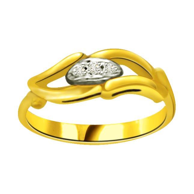 Classic Diamond Gold rings SDR737 -3 Diamond rings