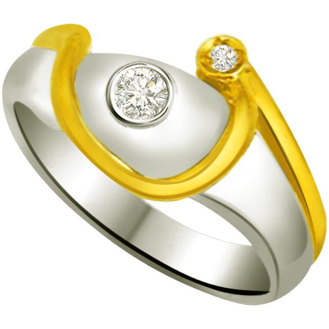 Classic Diamond Gold rings SDR740 -White Yellow Gold rings