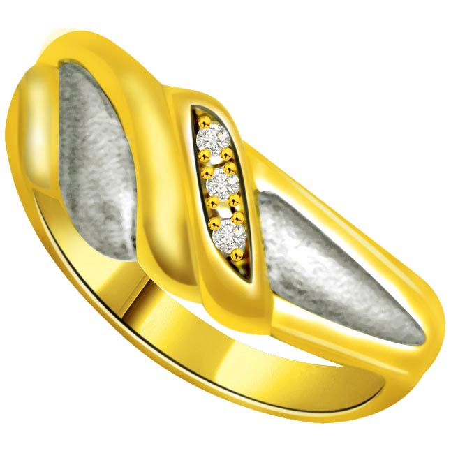 Two -Tone Diamond Gold rings SDR742 -3 Diamond rings