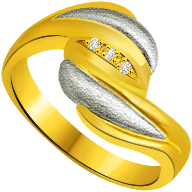 Classic Diamond Gold rings SDR743 -3 Diamond rings
