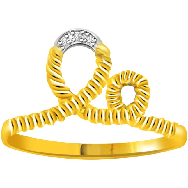 3 Diamond 18kt Gold rings SDR746 -3 Diamond rings