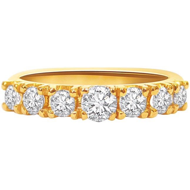 Embracing Splendor -Yellow Gold Eternity rings