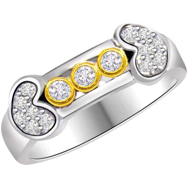 Diamond Heart Shape rings SDR753