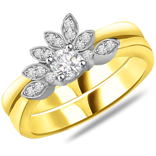 Flower Shape Diamond rings SDR762