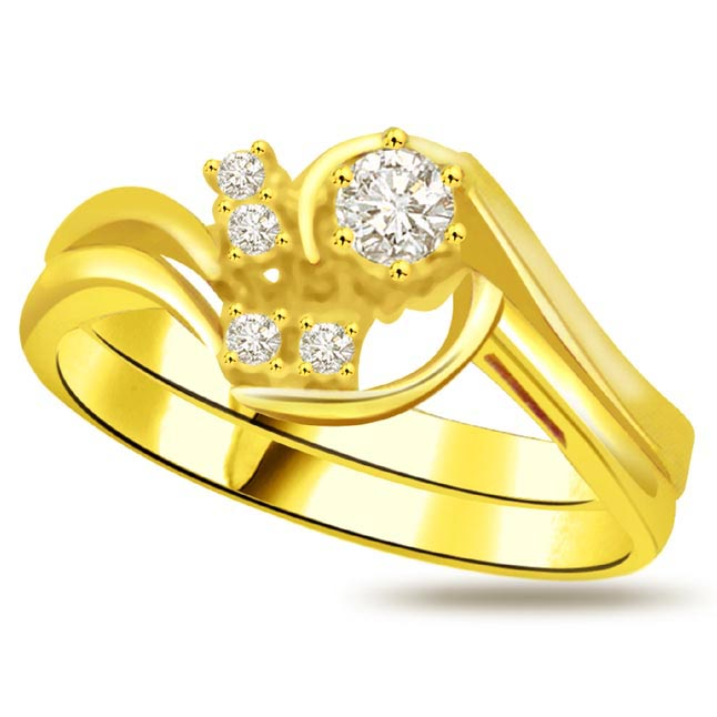 Classic Diamond Gold rings SDR765