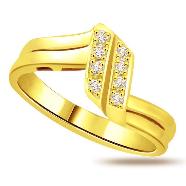 Classic Diamond Gold rings SDR767