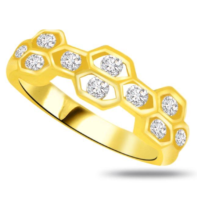 Pretty Diamond Gold rings SDR768