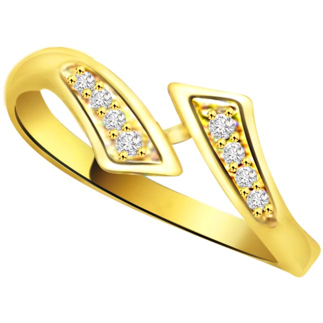 Trendy Diamond Gold rings SDR769