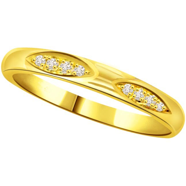 Classic Diamond Gold rings SDR770