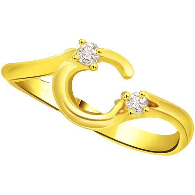 Elegant Diamond Gold rings SDR771