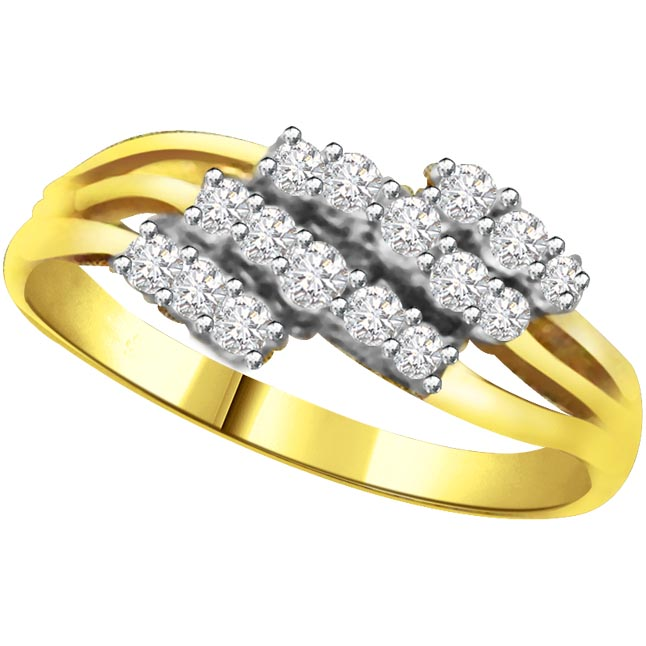 Shimmer Diamond Gold rings SDR775
