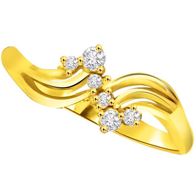 Elegant Diamond Gold rings SDR778