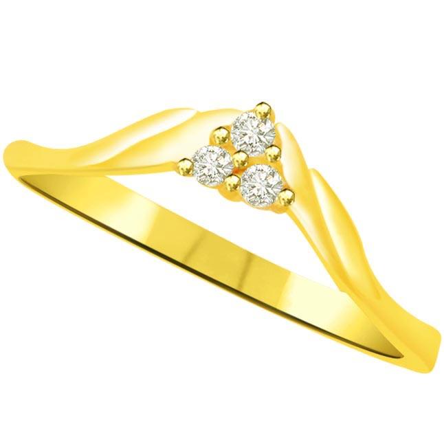 Pretty Diamond Gold rings SDR779 -3 Diamond rings