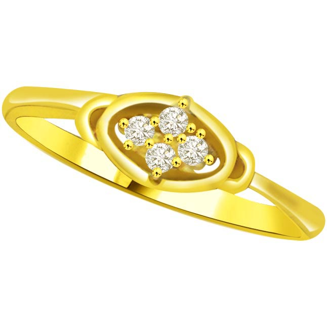 Shimmer Diamond Gold rings SDR780