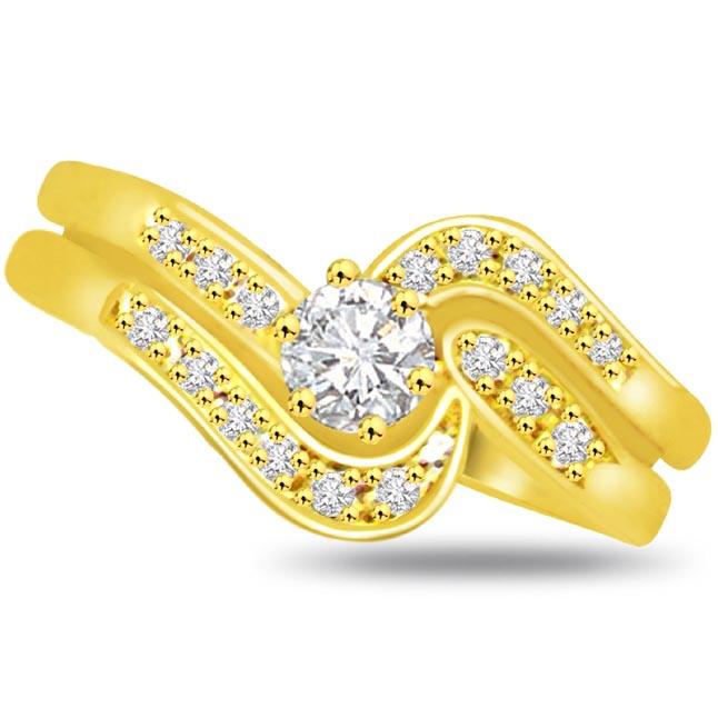 Shimmer Diamond Gold rings SDR783