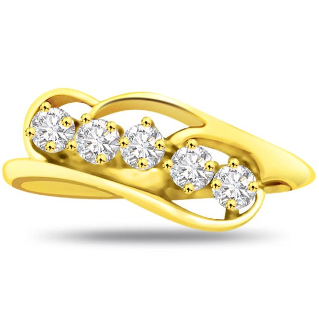 Elegant Diamond Gold rings SDR786