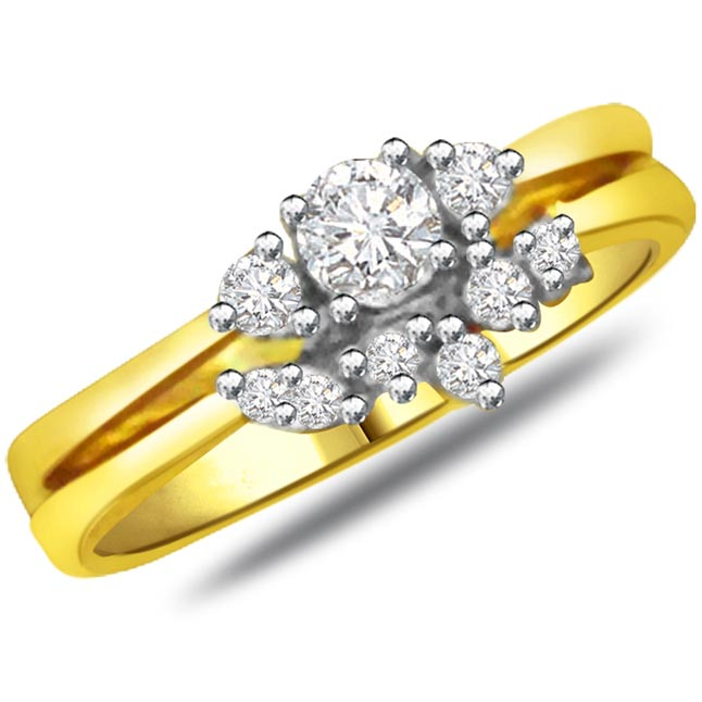 Elegant Diamond Gold rings SDR788