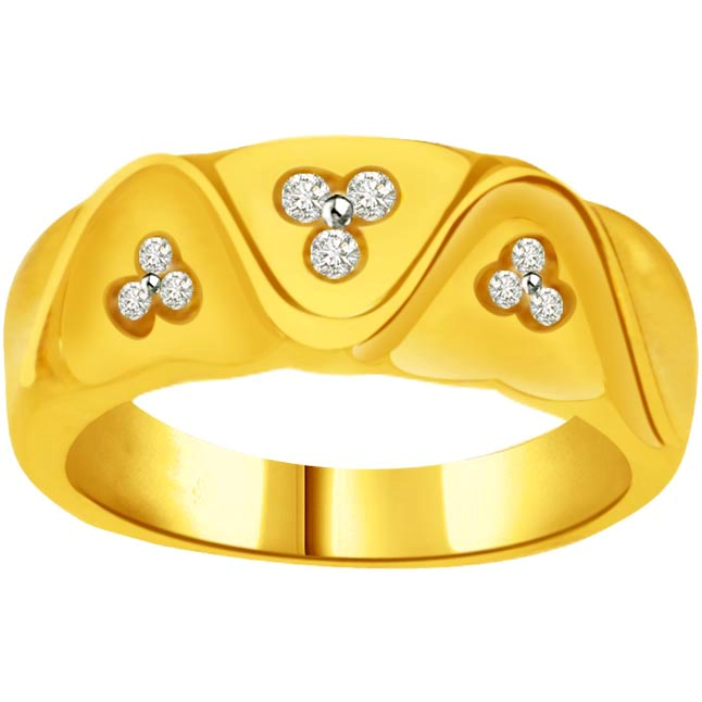 Elegant Diamond Gold rings SDR793