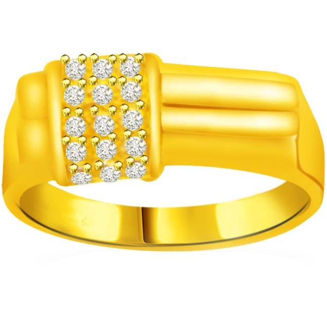 0.45 cts Designer Men's rings