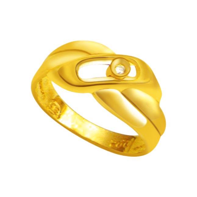 Solitaire Diamond Gold rings SDR798 -18k Engagement rings