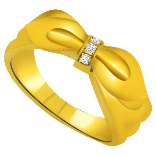 Two -Tone Diamond Gold rings SDR802 -3 Diamond rings
