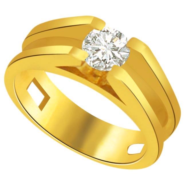 Solitaire Diamond Gold rings SDR803 -18k Engagement rings