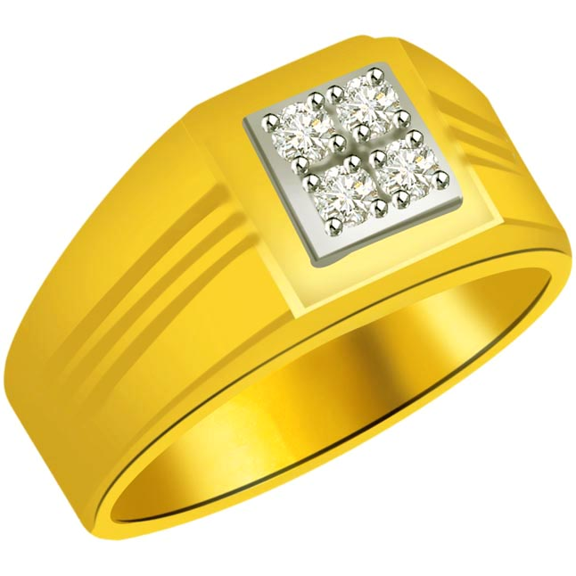 0.20 cts Diamond Designer Men's rings