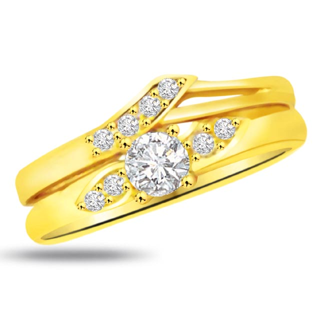 Classic Diamond Gold rings SDR818
