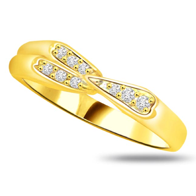 Elegant Diamond Gold rings SDR819