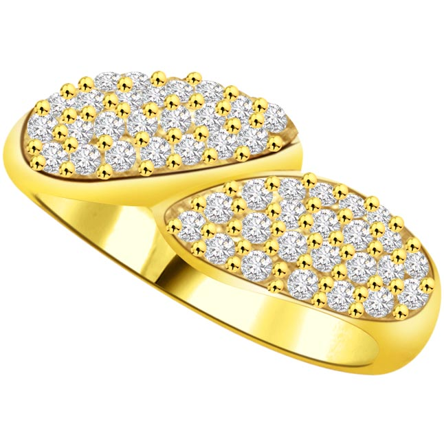 Shimmer Diamond Gold rings SDR821