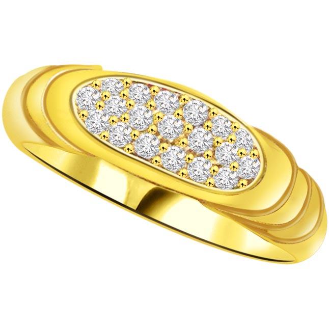 Pretty Diamond Gold rings SDR823