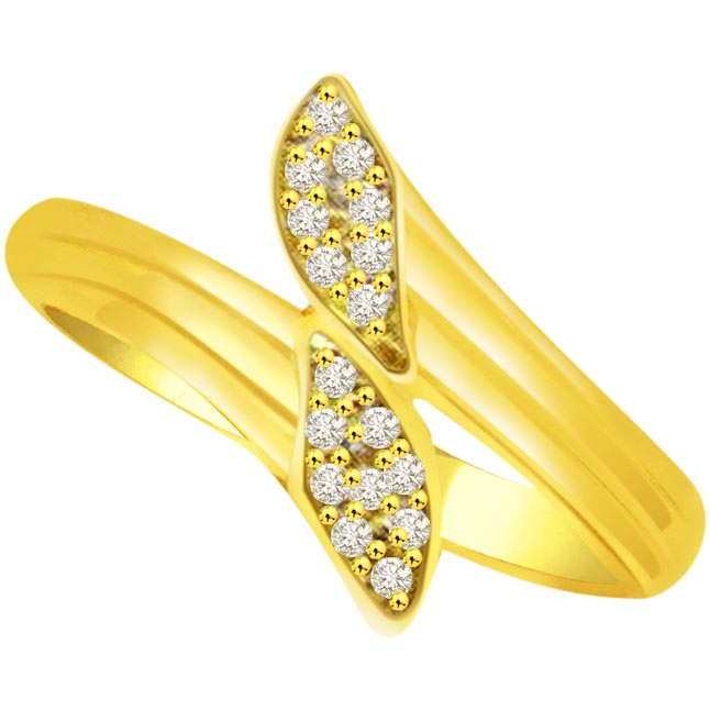 Trendy Diamond Gold rings SDR824