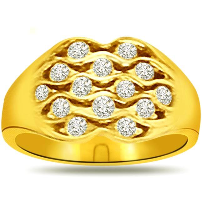 Shimmer Diamond Gold rings SDR828