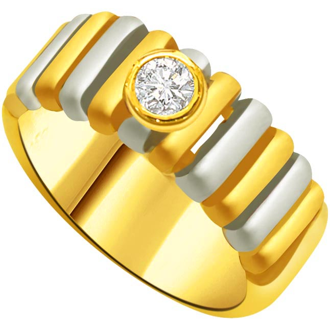 Solitaire Diamond Two -Tone rings SDR830